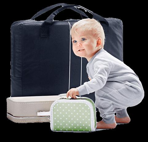 Pakitud reisivoodi